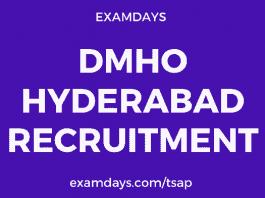 dmho hyderabad recruitment