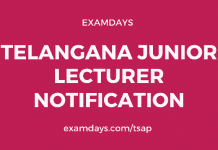 ts junior lecturer notification