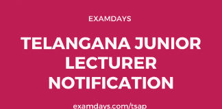 ts junior lecturer notification