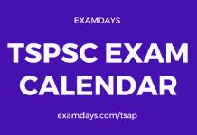 tspsc exam calendar