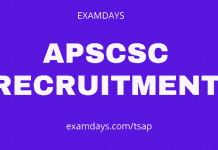 apscsc recruitment
