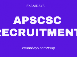 apscsc recruitment