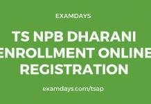 ts npb dharani enrollment online registration