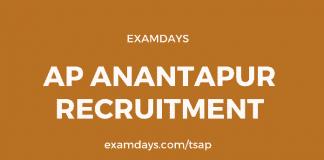 anantapur recruitment