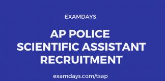 ap police scientific assistant notification