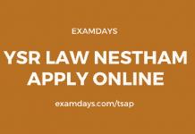 ysr law nestham apply online