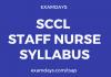 SCCL Staff Nurse Syllabus