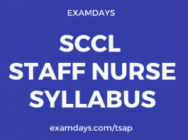 SCCL Staff Nurse Syllabus