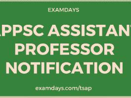 appsc assistant professor notification pdf