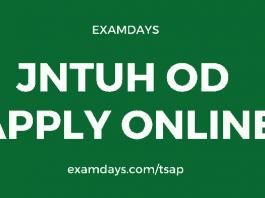 jntuh od apply online