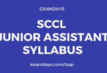 sccl junior assistant syllabus