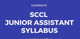 sccl junior assistant syllabus