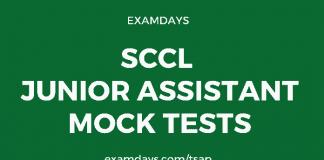 sccl junior assistant mock test