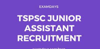 tspsc junior assistant recruitment