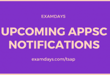 upcoming appsc notifications