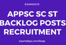APPSC SC ST Backlog Posts Recruitment