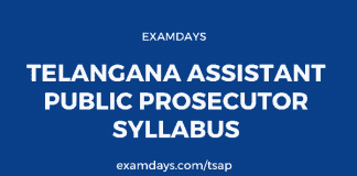 Telangana Assistant Public Prosecutor Syllabus