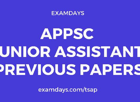 appsc junior assistant previous question papers