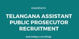 telangana assistant public prosecutor recruitment