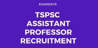 tspsc assistant professor recruitment