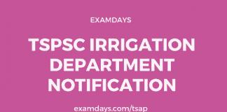 tspsc irrigation department notification