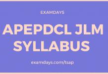 APEPDCL JLM Syllabus