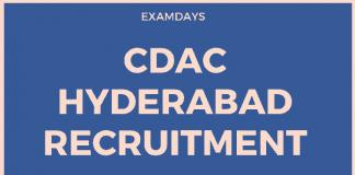 CDAC Hyderabad Recruitment