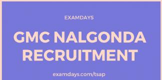 gmc nalgonda recruitment
