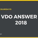 UP VDO Answer Key 2018 Download